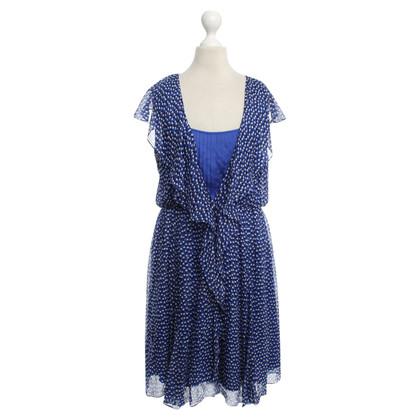 Diane von Furstenberg Polkadot vestito in blu
