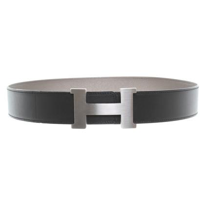 Hermès Belt black/grey