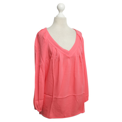 Diane von Furstenberg Silk blouse in coral red