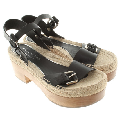 Paloma Barcelo Sandals in zwart / Beige