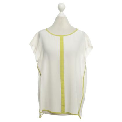 Marc Cain Silk blouse in cream / green