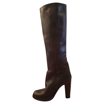 L'autre Chose Boots with leather heel