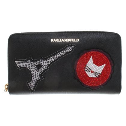 Karl Lagerfeld Portemonnaie in Schwarz