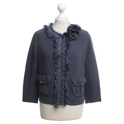 Ermanno Scervino Crochet jacket in blue