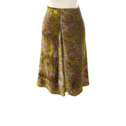 Etro Velvet skirt with a floral pattern