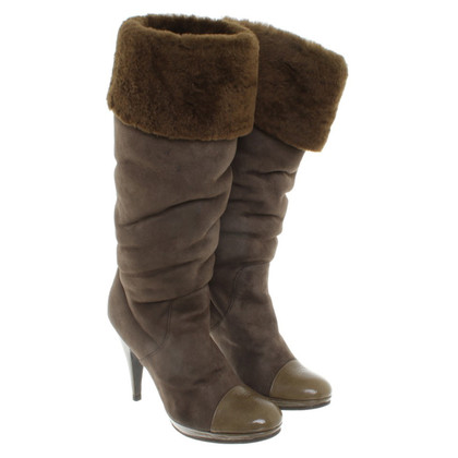 Iceberg Boots in dark brown