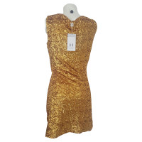 Halston Heritage Gold Dress