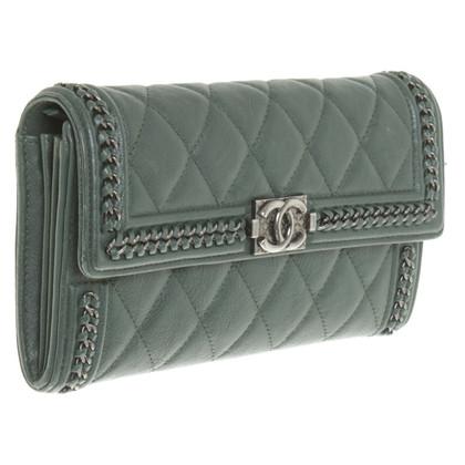 Chanel Portemonnaie in Grün