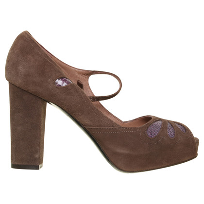 L'autre Chose Peep-toes in Brown