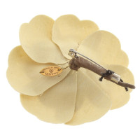Chanel Gold-colored camellia brooch