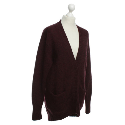 Acne Woll-Cardigan in Bordeaux