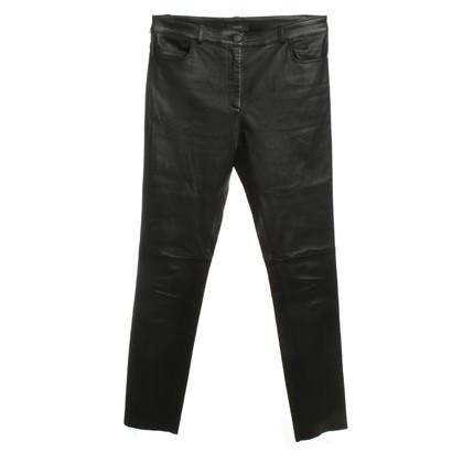 Joseph pantaloni di pelle in nero