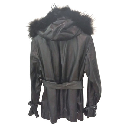 Philosophy di Alberta Ferretti Black leather jacket