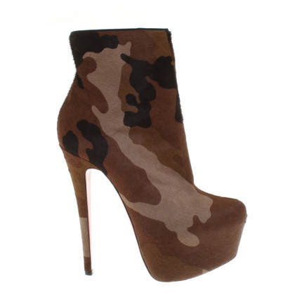 Christian Louboutin Ankle boots with camouflage pattern