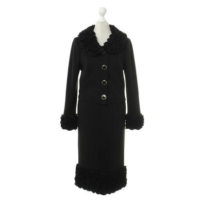 Dolce & Gabbana Brei kostuum in zwart
