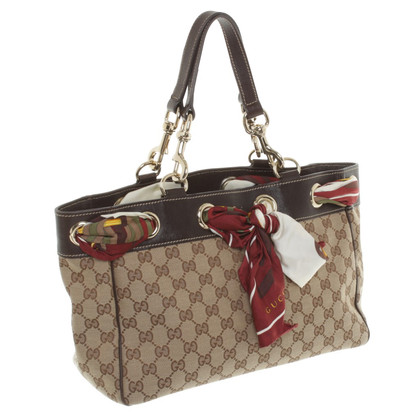 Gucci Handbag with silk scarf