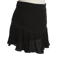 Sandro Volant skirt in black