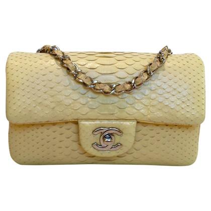 "Chanel ""Classic Flap Bag New Mini"" Python-Leder"