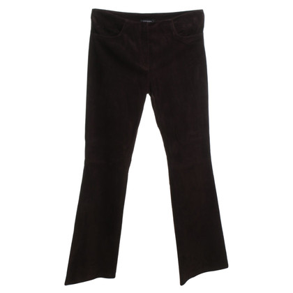 Jitrois Suede pants in dark brown