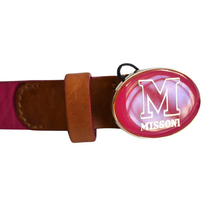 Missoni Leather belt with metal buckle