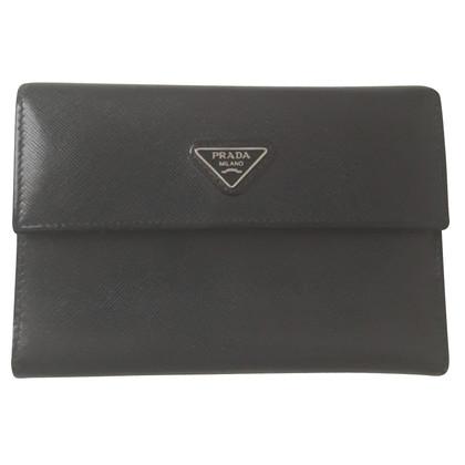 Prada portafoglio blu notte