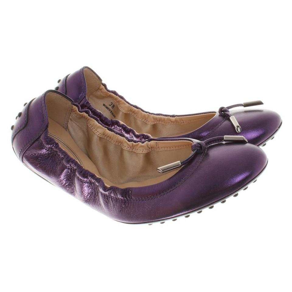 Tod's Ballerinas in purple