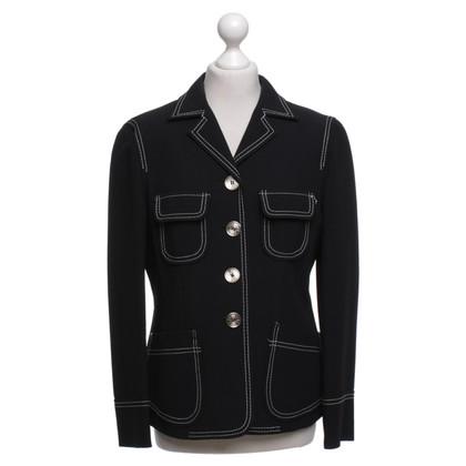 Moschino Blazer in zwart / White