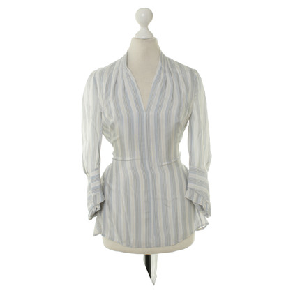 BCBG Max Azria Blouse with stripe pattern