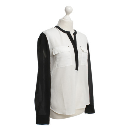 Calvin Klein Blouse in Black / White