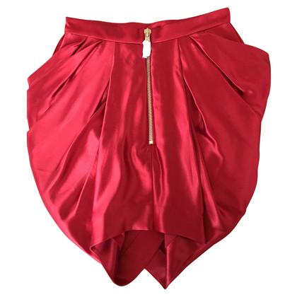 Balmain X H&M Zijden rok in rood
