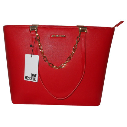 Moschino Love Schoudertas in rood