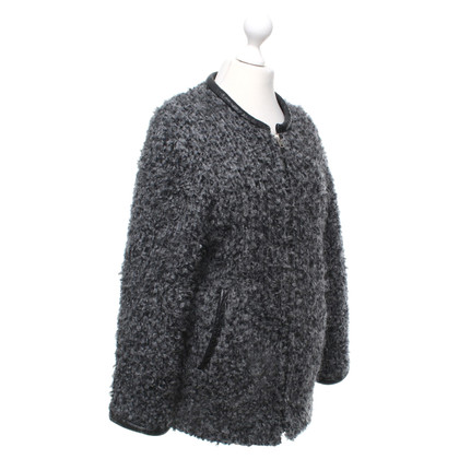 Iro Wool jacket in grey / black