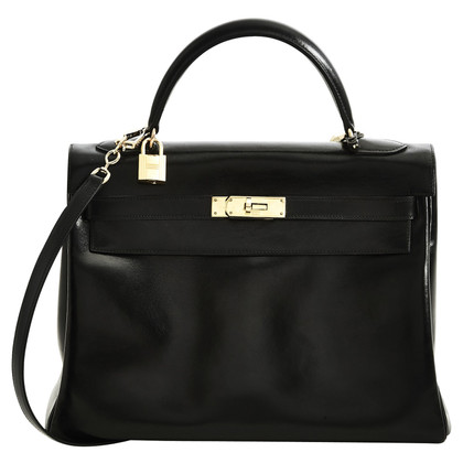 Hermès Kelly Bag 32 Boxleder in Schwarz