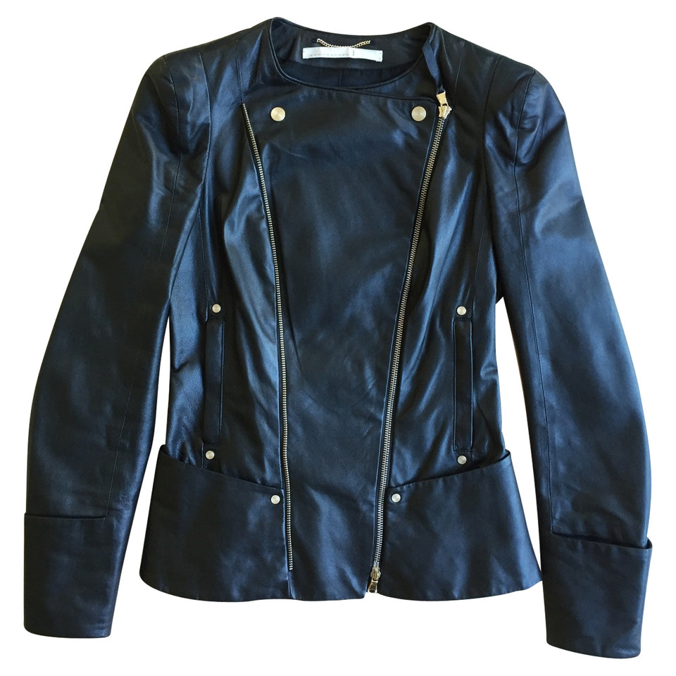 Leather jacket olx - Dorothee Schumacher Leather Jacket In Biker Style Second
