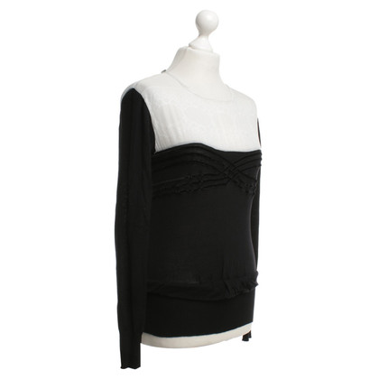 Alberta Ferretti Fine knit sweater in black