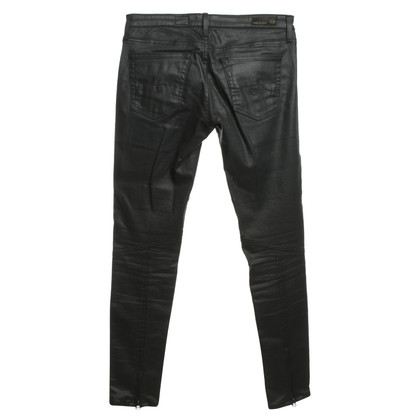 Adriano Goldschmied Coated jeans in black