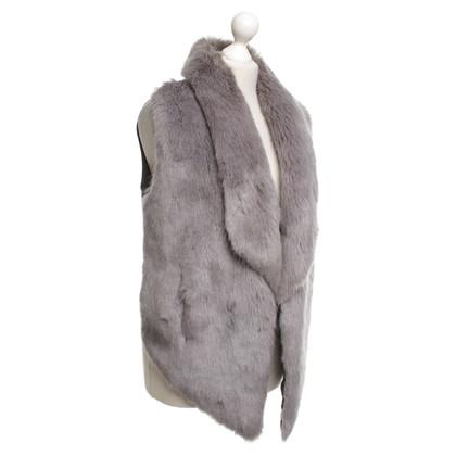 René Lezard Faux Fur Vest in grey