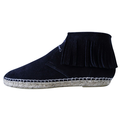 Saint Laurent Black suede espadrilles