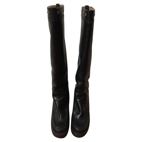 Yves Saint Laurent Stiefel in Schwarz Schwarz