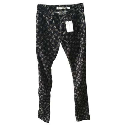 Isabel Marant Corduroy trousers with floral print