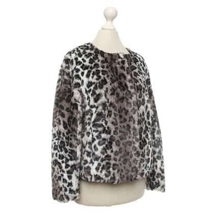 Luisa Cerano Jacket with leopard pattern