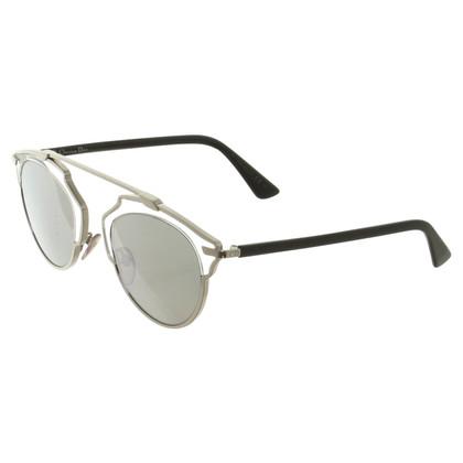 Christian Dior Zilverkleurige zonnebril