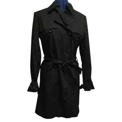 Hugo Boss zwart Trenchcoat