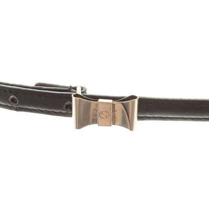 Gucci Schmaler Leder-Gürtel