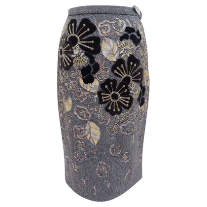 Dolce & Gabbana Wool skirt with appliqués