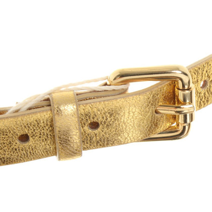 Blumarine Gold leather belt