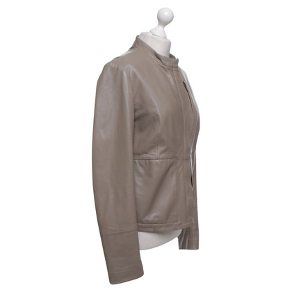 Calvin Klein Veste en cuir gris-brun