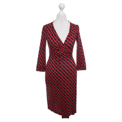 Diane von Furstenberg Wrap Dress in Red / Black