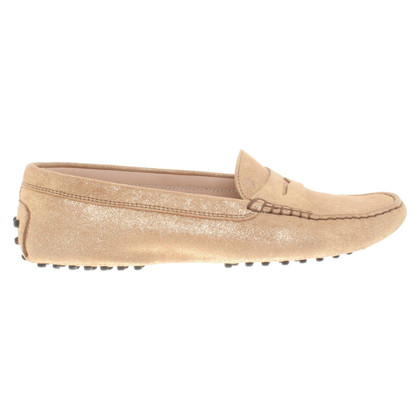 Tod's Gold colored moccasins