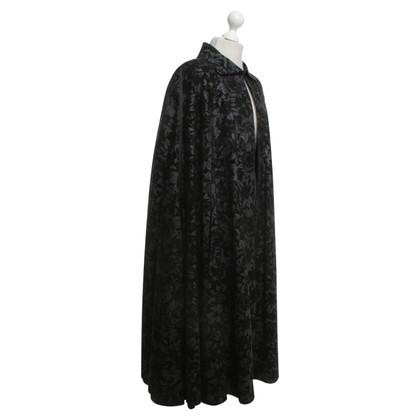 Roberto Cavalli Leather cape in black